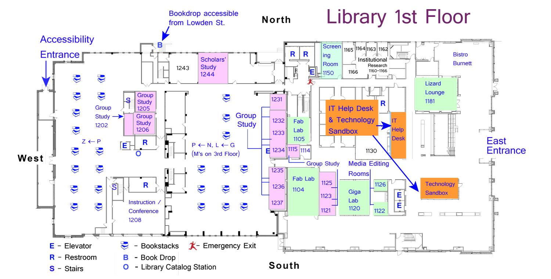 Tcu Information Technology Help Desk Map One Floor Below It