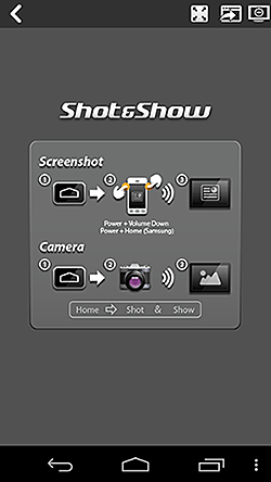 Shot & Show Start Screen