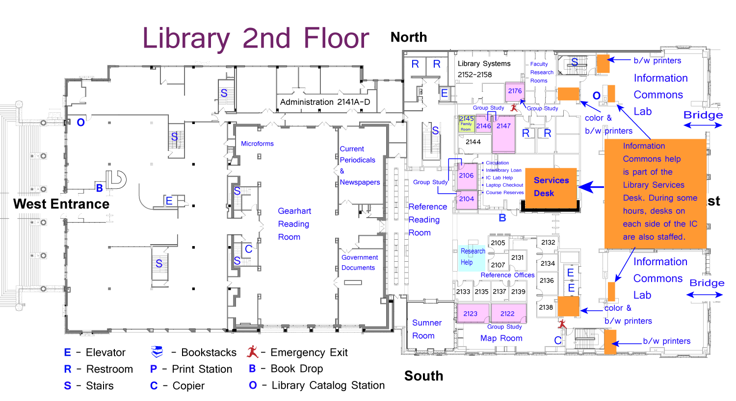 Tcu Library Study Rooms Map