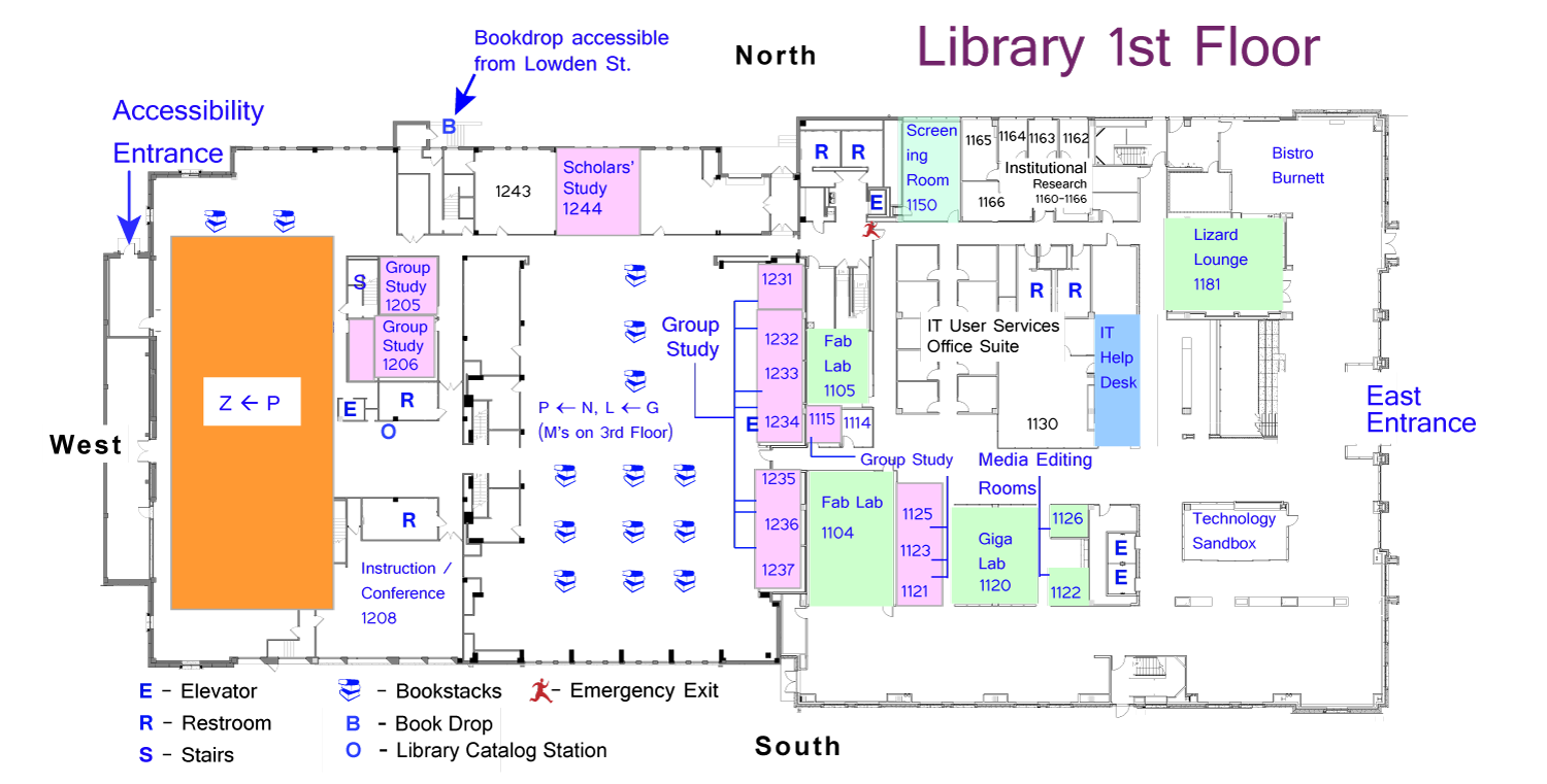 Library floor plans maps and directions tcu mary couts for Floor plan mapper